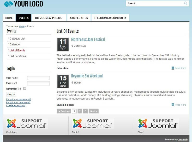 joomla events management component from apptha