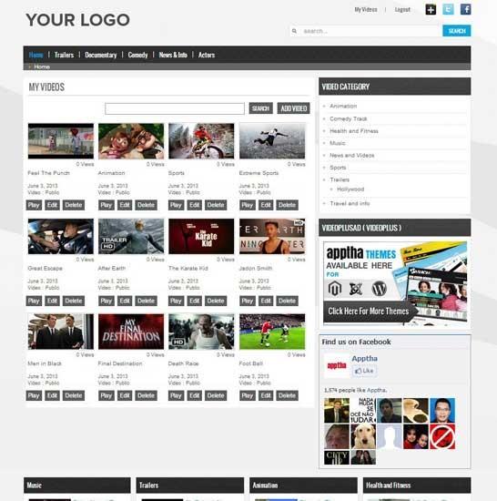 Joomla HD Video Sharing Plugin | Joomla Video Gallery Extension ...